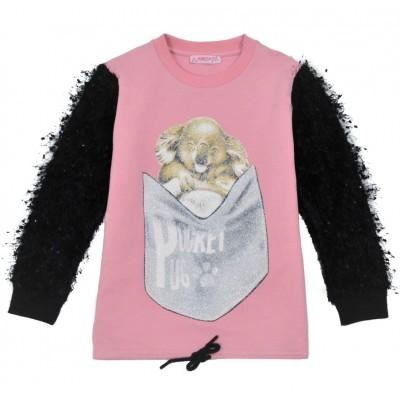Μπλούζα για κορίτσι ΕΒΙΤΑ 215128 ροζ