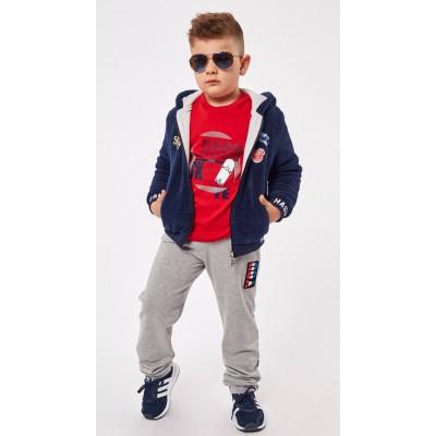 Σετ φόρμα για αγόρι 3τμχ ζακέτα, μπλούζα μμ, και παντελόνι HASHTAG 215838 μπλε/γκρί