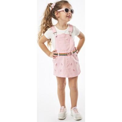 Σετ  μπλούζα με φουστίννα ΕΒΙΤΑ 214201 λευκό/ροζ