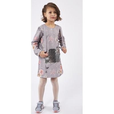 Φόρεμα ΕΒΙΤΑ 215283 γκρί