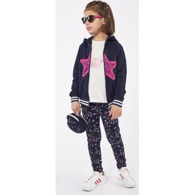 Σετ 3τμχ μπλούζα, κολάν και ζακέτα για κορίτσι ΕΒΙΤΑ 215214 μπλέ