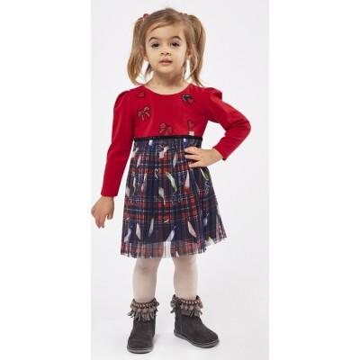 Φόρεμα ΕΒΙΤΑ 215292 κόκκινο