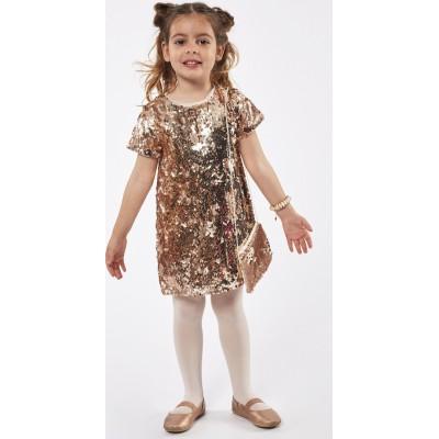 Φόρεμα ΕΒΙΤΑ χρυσό 215244