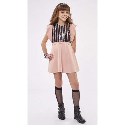 Φόρεμα ΕΒΙΤΑ 215034 σομόν