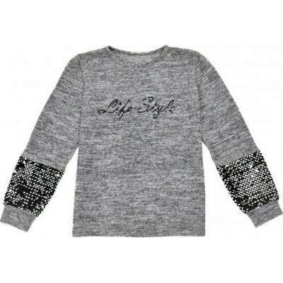 Μπλούζα για κορίτσι ΕΒΙΤΑ 215105 γκρί μελανζέ