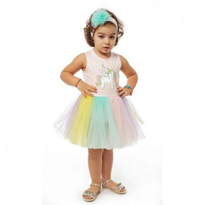 Φόρεμα ΕΒΙΤΑ 214523 ροζ