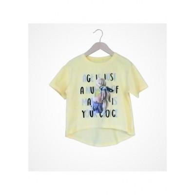 Μπλούζα κορίτσι κοντό μανίκι Εβίτα 214117 κίτρινο