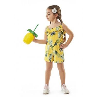 Ολόσωμο μακό σορτς  κορίτσι ΕΒΙΤΑ 214218 κίτρινο